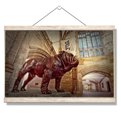 Yale Bulldogs - Yale's Hansome Dan - College Wall Art #Hanging Canvas