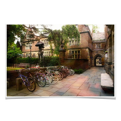 Yale Bulldogs - Bikes on Campus - College Wall Art #Poster