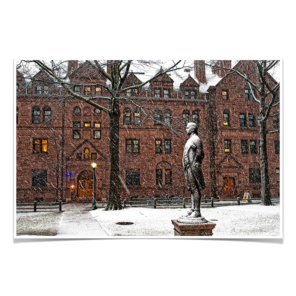 Yale Bulldogs - Snow on the old campus - College Wall Art #Canvas