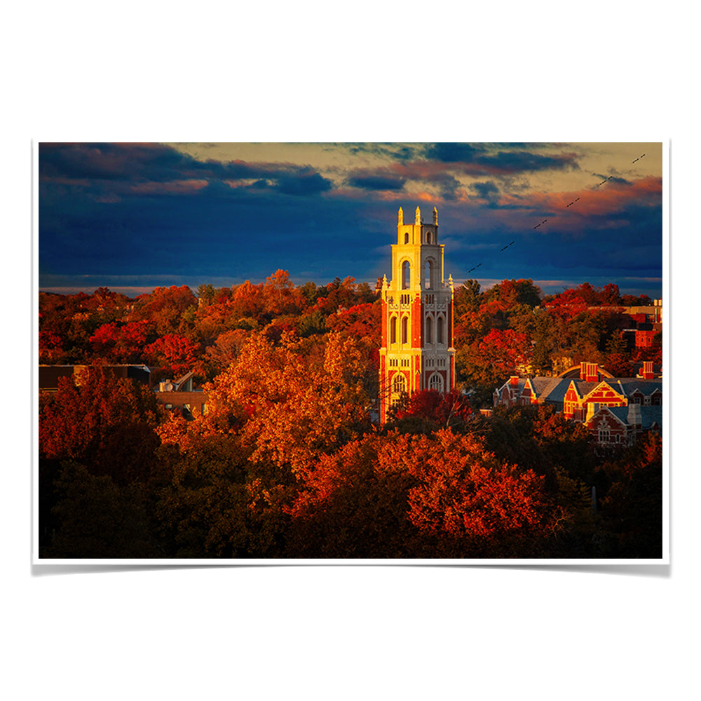 Yale Bulldogs - Fall Franklin Tower #Canvas