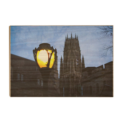 Yale Bulldogs - Dawn Harkness Tower - College Wall Art #Wood