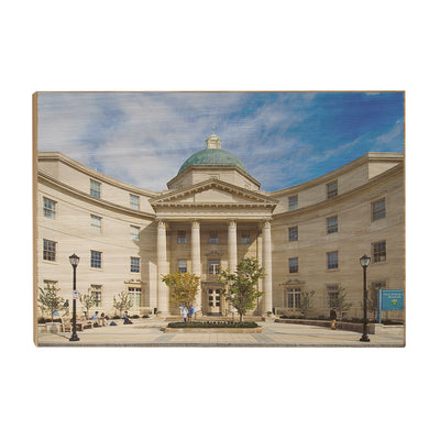Yale Bulldogs - Sterling Hall of Medicine - College Wall Art #Wood