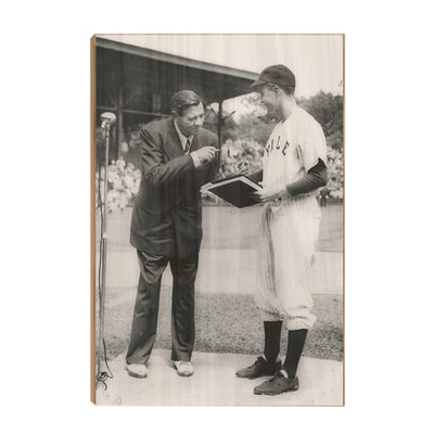 Yale Bulldogs - George WH & Babe-1948 - College Wall Art #Wood