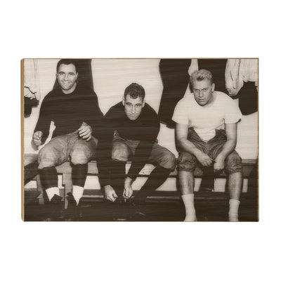 Yale Bulldogs - Vintage Gerald Ford and the boys suiting up - College Wall Art #Wood
