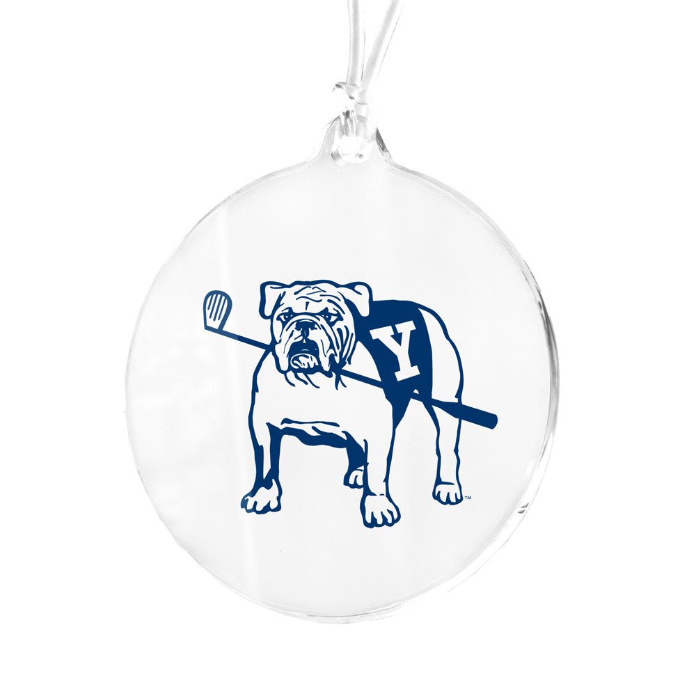 Yale Bulldogs - Bulldog with Golf Club Bag Tag & Ornament