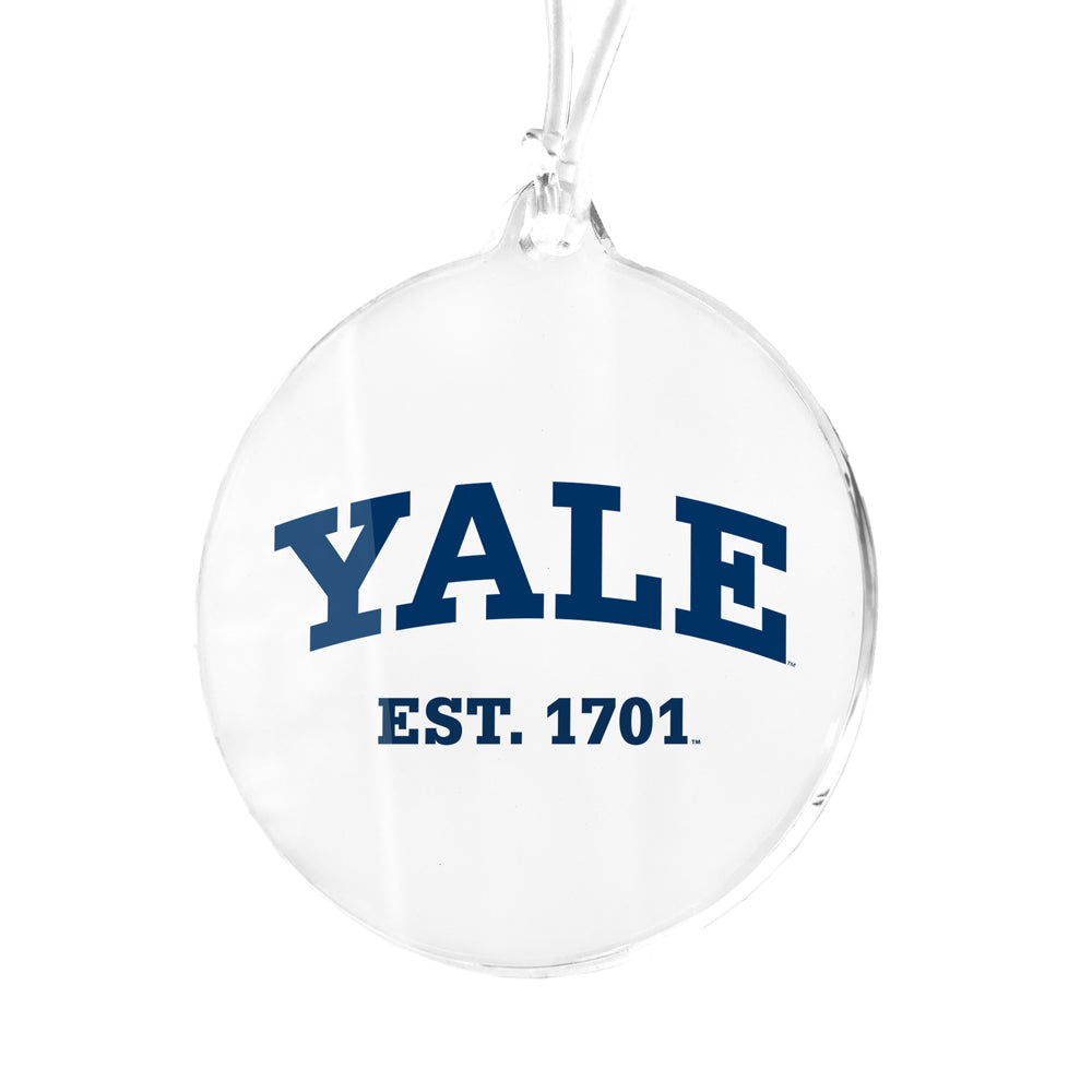 Yale Bulldogs - Yale Established 1701 Bag Tag & Ornament