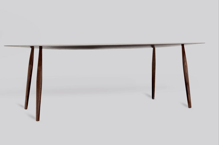 Modern Walnut Coffee Table Thin Edge - Side View