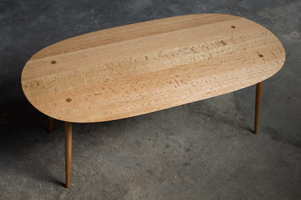 Modern Oak Coffee Table Thin Edge
