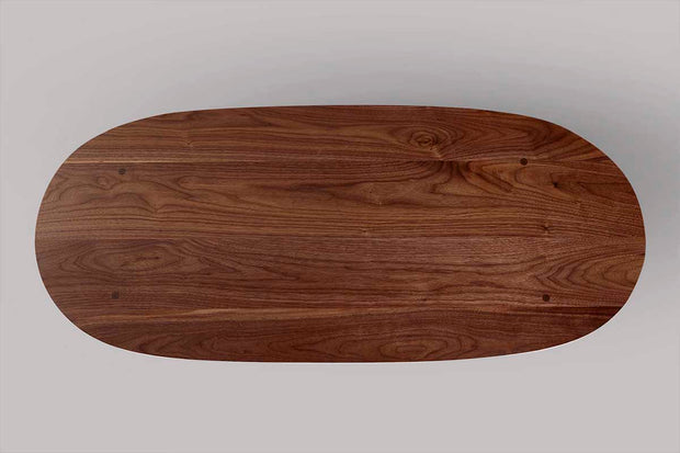 Modern Walnut Coffee Table Round
