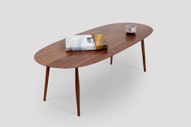 Modern Walnut Coffee Table Thin Edge