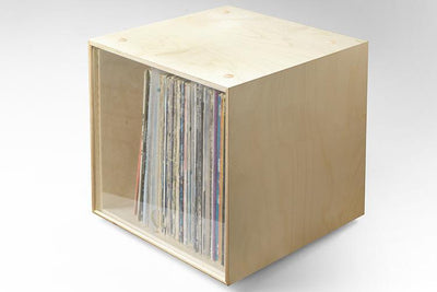 Stackable storage cube for vinyl records and books