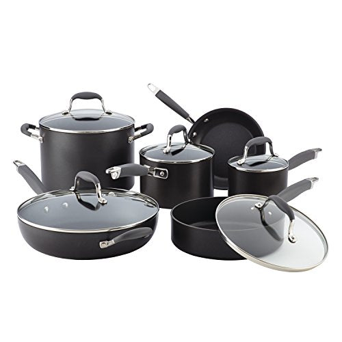 Anolon Advanced Hard-Anodized Nonstick 11-Piece Cookware Set, Gray