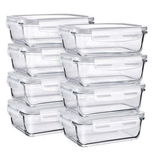 Load image into Gallery viewer, Glass Food Storage Containers, Bayco [8 Sets, 29oz]