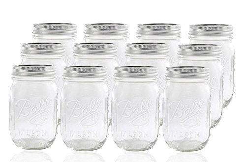ball mason 12 Jar with Lid-Regular Mou
