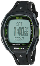 Load image into Gallery viewer, Timex Unisex TW5K96400 Ironman Sleek 150 Tapscreen Black/Green Full-Size Resin Strap Watch