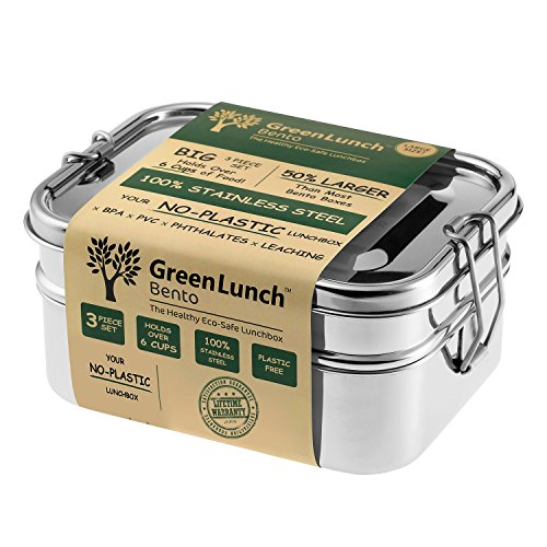 Stainless Steel 3-in-1 Bento Lunch Box