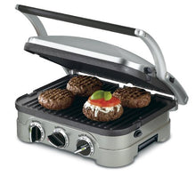 Load image into Gallery viewer, Cuisinart GR-4N 5-in-1 Griddler, Silver, Black Dials