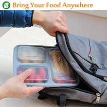 Load image into Gallery viewer, Enther Meal Prep Containers [20 Pack] 3 Compartment with Lids | BPA Free