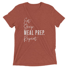 Load image into Gallery viewer, MEAL PREP. REPEAT UNISEX T-SHIRT (TRI-BLEND)