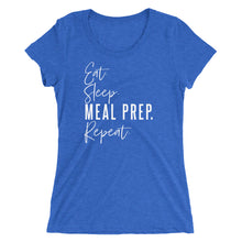 Load image into Gallery viewer, MEAL PREP. REPEAT WOMENS T-SHIRT (TRI-BLEND)