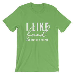 I LIKE FOOD UNISEX T-SHIRT (COTTON)