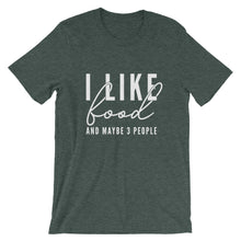 Load image into Gallery viewer, I LIKE FOOD UNISEX T-SHIRT (COTTON)