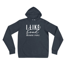 Load image into Gallery viewer, I LIKE FOOD UNISEX HOODIE