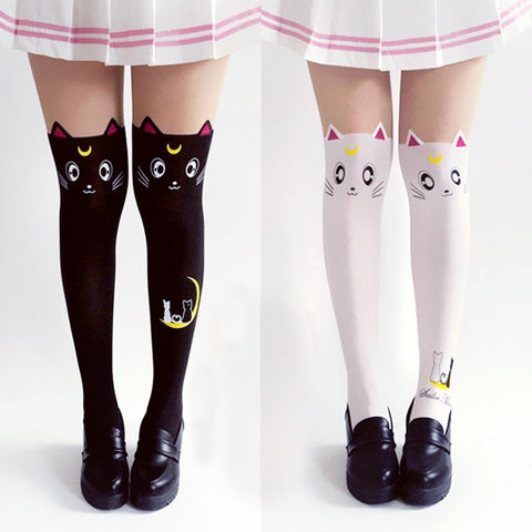 Sailor Moon Luna Cat Socks