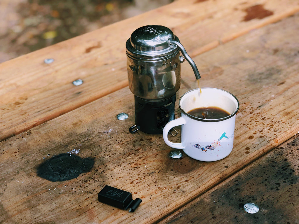 camping coffee in the morning - espresso vibes - camping food