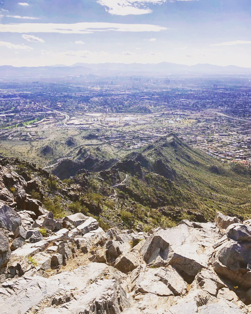 Squaw Peak views overlooking Phoenix Metro Area in Scottsdale Arizona