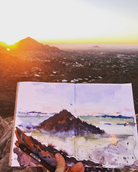Arizona sunrise overlooking the valley in Scottsdale area