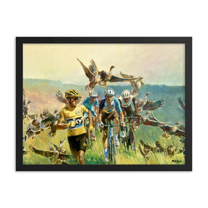 "Art Print - ""Froome Chasing Geese"""