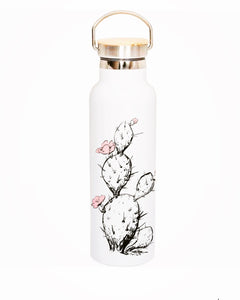 Prickly pear reusable stainless steel water bottle