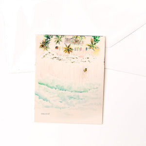 "Hand-made cards ""Tanning Avo"""