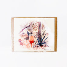 "Load image into Gallery viewer, Hand-made cards ""Bellini"" printed on eco-friendly watercolor paper"