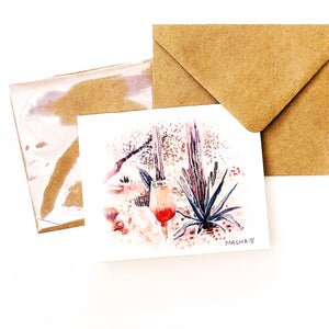 "Hand-made cards ""Bellini"" printed on eco-friendly watercolor paper"