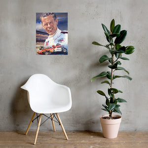 "Art Print - ""Bobby Unser""- the Iconic Visionary"