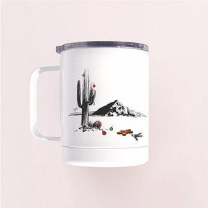 "Enamel Coffee Mug - ""Winter in Phoenix. Camelback Mountain"""