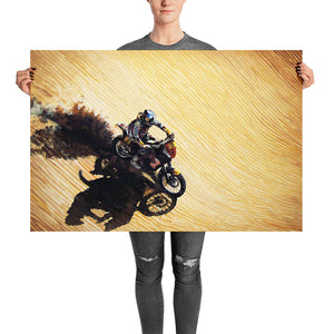 Motorcycle racer - Dakar race - art print