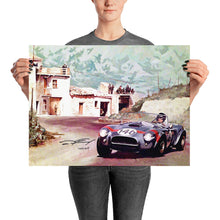 Load image into Gallery viewer, Dan Gurney Targa Florio - Shelby Team 289 Cobra - signed print