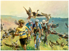 "Load image into Gallery viewer, Art Print - ""Froome Chasing Geese"""