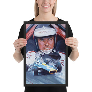"Art Print - ""Jim Clark. Team Lotus at Monaco GP 1966"" - Historic Race"