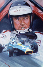 "Load image into Gallery viewer, Art Print - ""Jim Clark. Team Lotus at Monaco GP 1966"" - Historic Race"