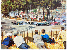 Load image into Gallery viewer, Art Print-Monaco GP-Phil Hill-Ferrari-Jim Clark-Stirling Moss-Tony Brooks-BRM P48/57 Climax-Ginther-Dan Gurney-Porsche 718.