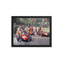 Load image into Gallery viewer, Mona GP 1961 - Art Print - Ferrari 156 Sharknose