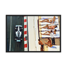 Load image into Gallery viewer, Lewis Hamilton - Monaco GP - Girls Suntanning - art print