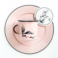 Load image into Gallery viewer, Couloir camp mug Christmas in Phoenix - pink with black rim