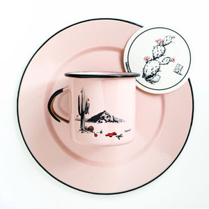 Couloir camp mug Christmas in Phoenix - pink with black rim