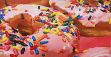"Load image into Gallery viewer, Art Print - ""Pink Glazing Donuts"""