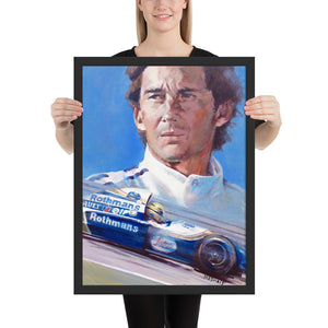 "Art Print - ""Senna. Eyes that Knew No Fear"" - Historic Race"